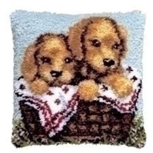 Pako Pako smyrna knoopkussen Puppies 013.300