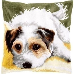 Vervaco Vervaco kruissteekkussen Kwispelend hondje 0156600