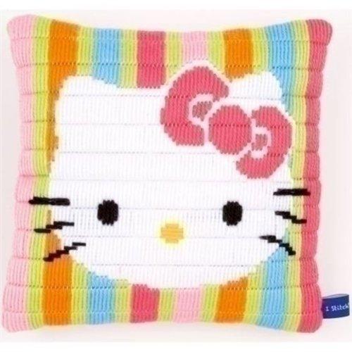 Vervaco Bargello kussen Hello Kitty gestreept 0153797