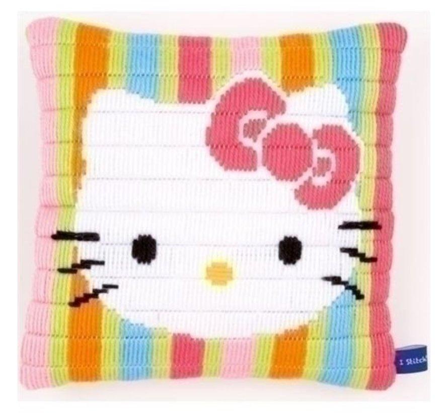 Bargello kussen Hello Kitty gestreept 0153797
