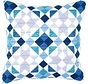 Bargello spansteekkussen blauwe ruiten 0145699