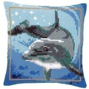 Vervaco Kruissteekkussen dolfijn 0021528