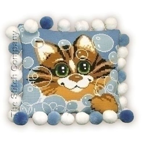 Riolis Riolis kruissteekkussen Cat Cushion 386