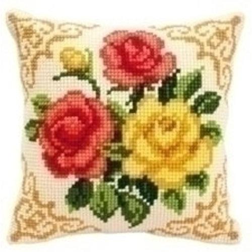 Vervaco Kruissteekkussen bloemen 0008575
