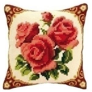 Vervaco Kruissteekkussen bloemen 0008576