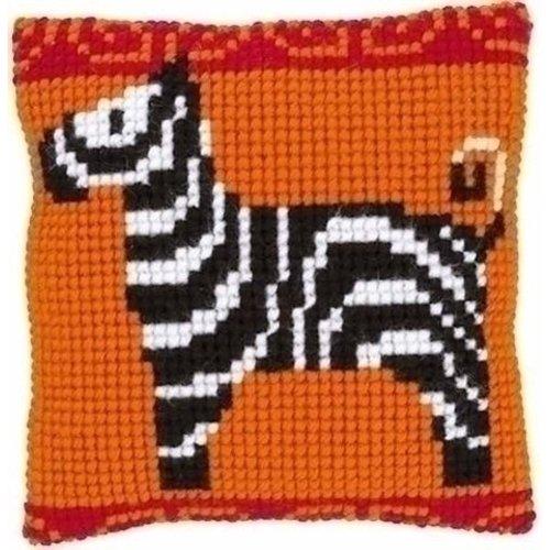 Vervaco Borduurkussen Zebra 0146835