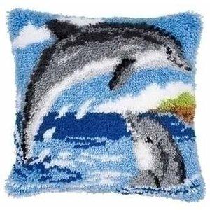 Vervaco Smyrna knoopkussen dolfijnen 0014130