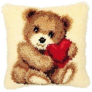 Vervaco Smyrna knoopkussen beer met hart 0014187