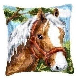 Vervaco Kruissteekkussen Paard 0008624