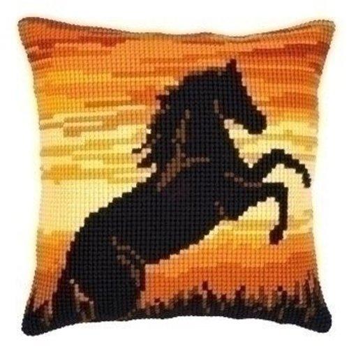 Vervaco Kruissteekkussen steigerend paard 0008758