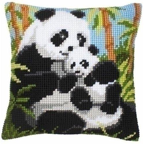 Vervaco Kruissteekkussen Panda met jong 0008513