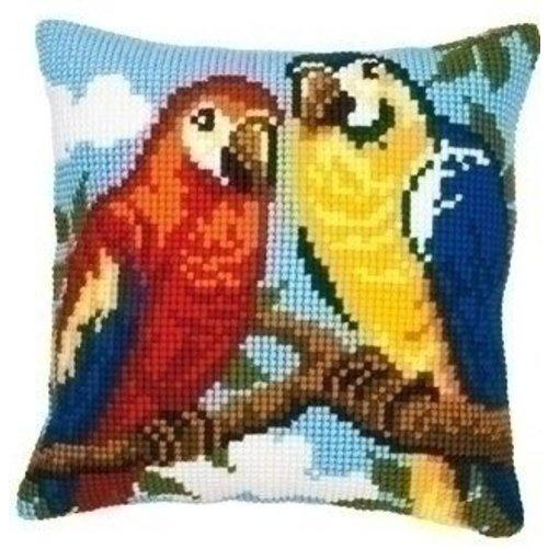 Vervaco Kruissteekkussen papegaaien 0008570