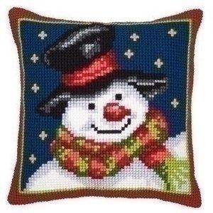 Vervaco Kruissteekkussen Sneeuwpop 0008727