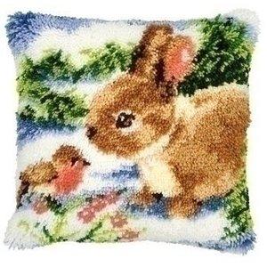 Vervaco Smyrna knoopkussen konijn 0014136
