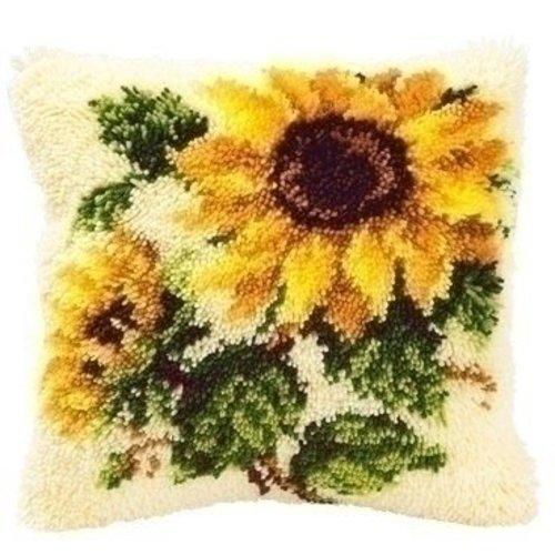 Vervaco Smyrna knoopkussen zonnebloemen 0014168
