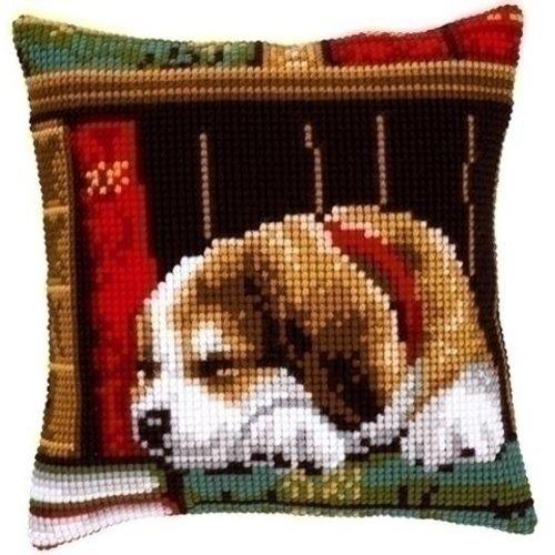 Vervaco Kruissteekkussen slapende hond 0148118