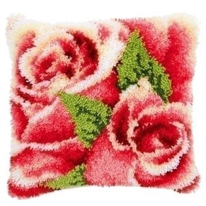 Vervaco Smyrna knoopkussen rozen 0146445