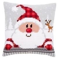Kruissteekkussen Kerstman 0148061