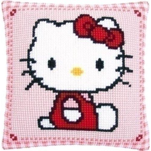 Vervaco Borduurkussen Hello Kitty 0147565