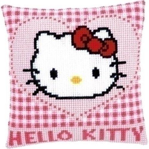 Vervaco Borduurkussen Hello Kitty in hartje 0148211