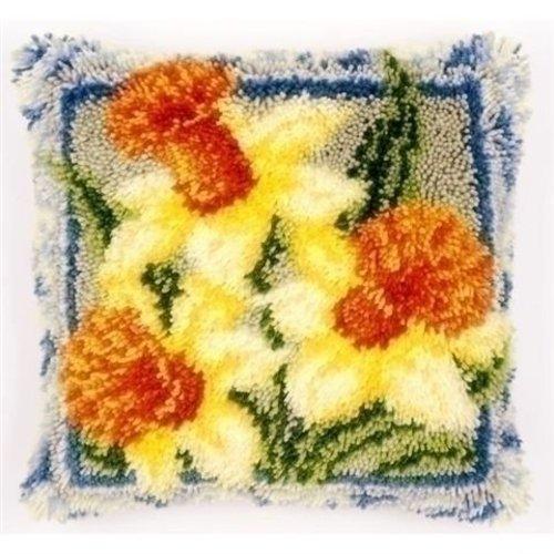 Vervaco Smyrna knoopkussen Narcissen 0149783