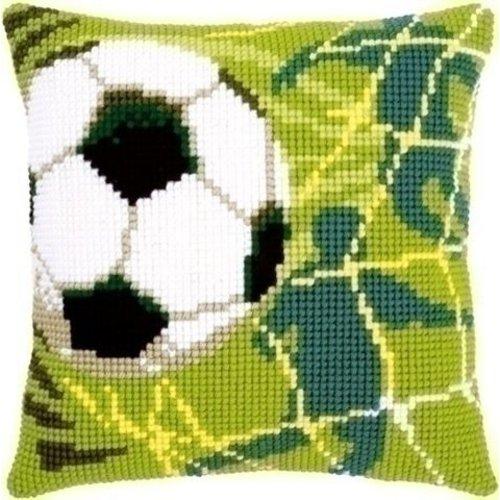 Vervaco Borduurkussen Voetbal 0150043