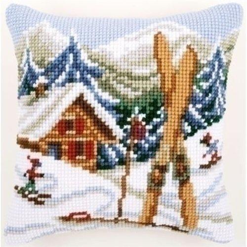 Vervaco Vervaco borduurkussen Sneeuwplezier 0021868