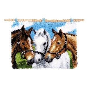 Vervaco Vervaco Smyrna Knooptapijt Paarden 0155741
