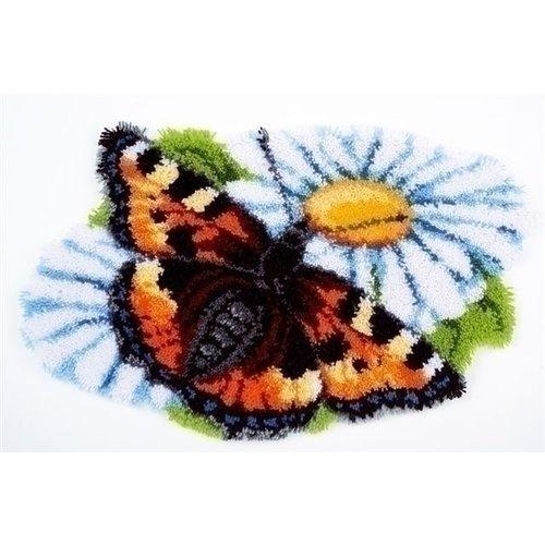 Vervaco Smynra knooptapijt Vlinder op Margriet 0154242