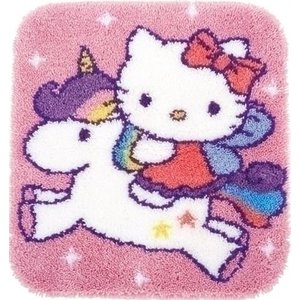 Vervaco Smyrna knooptapijt Hello Kitty op Unicorn 0153316