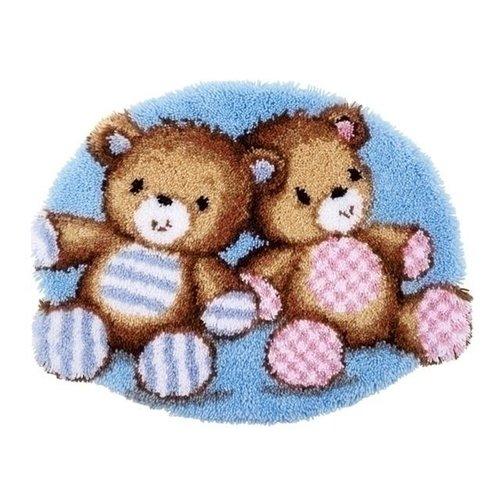 Vervaco Smyrna knooptapijt knuffelbeertjes 0154391