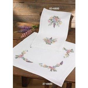 Permin Permin Borduurpakket Tafelkleed Flowers 27-6800