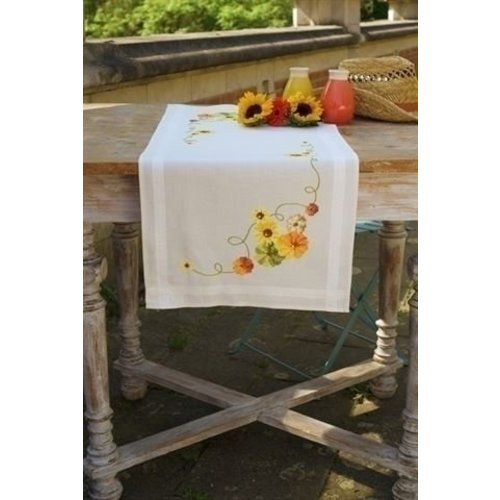 Vervaco Borduurpakket tafelloper Zonnebloemen 0162453
