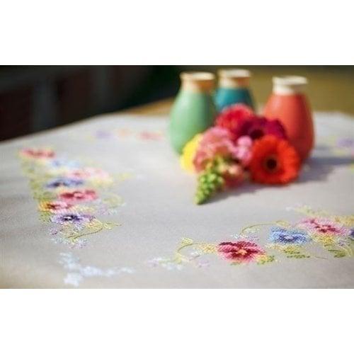 Vervaco Vervaco Borduurpakket Tafelkleed Viooltjes 0167012