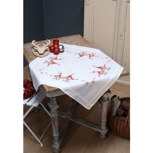 Vervaco Vervaco Tafelkleed Zingende kerstkabouters 0158016