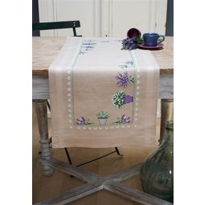 Vervaco Vervaco borduurpakket tafelloper Lavendel 0165726