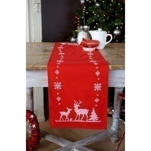 Vervaco Vervaco tafelloper Kerst met herten 0147225