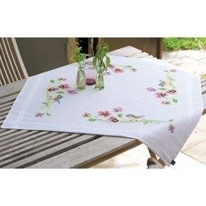 Vervaco Tafelkleed Pimpelmees met viooltjes 0148682