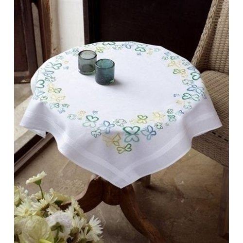 Vervaco Borduurpakket tafelkleed Groene vlinders 0148473