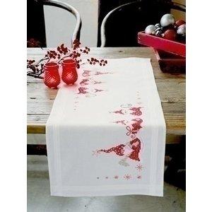 Vervaco Borduren tafelloper Kerstmannen 0146077