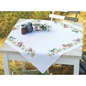 Vervaco Vervaco tafelkleed Vogels in de tuin 0013042