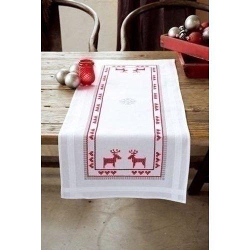 Vervaco Borduren tafelkleed Kerst 0147682