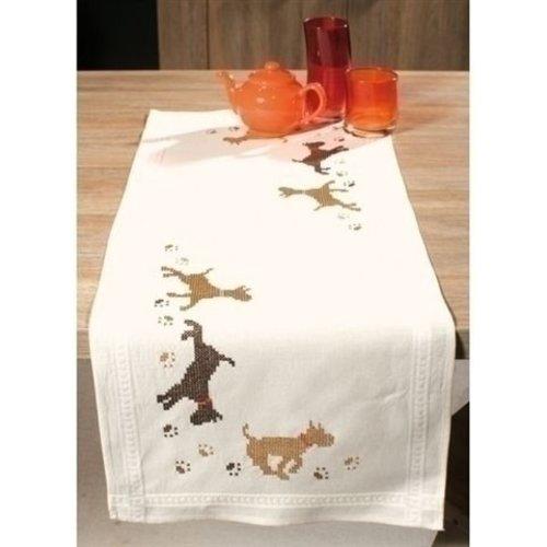 Vervaco Bedrukte tafelloper honden 0145161