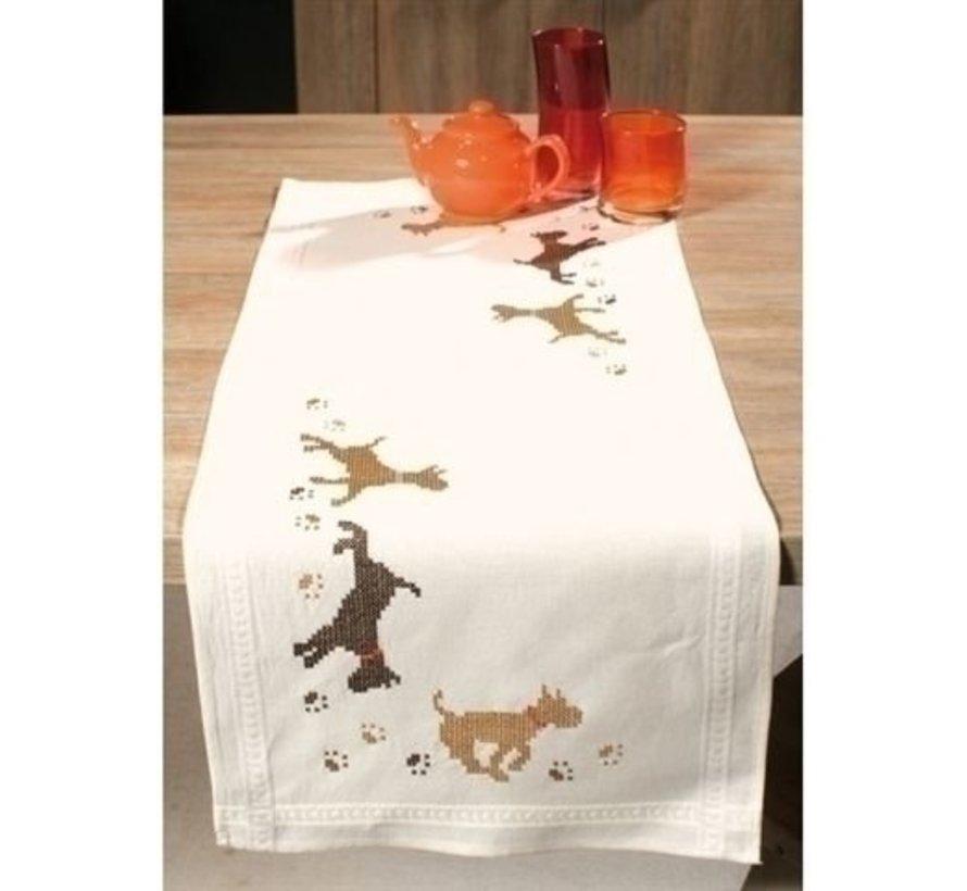 Bedrukte tafelloper honden 0145161