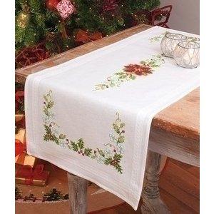 Vervaco Bedrukte tafelloper kerstster 0013262