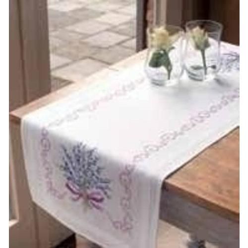Vervaco Bedrukte tafelloper lavendel 0013257