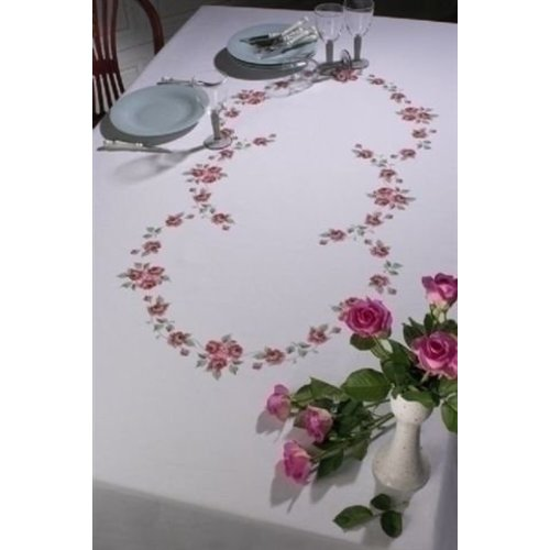 Permin Permin tafelkleed rode rozen 58 6399
