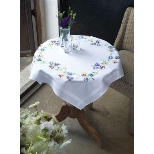 Vervaco Vervaco borduren tafelkleed viooltjes 0145232
