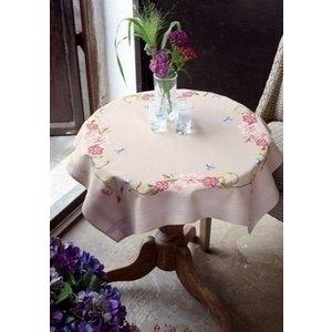 Vervaco Vervaco Tafelkleedje bloemen met vlinder 0021750