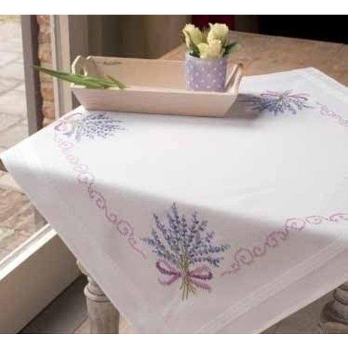 Vervaco Borduren tafelkleed Lavendel 0013208